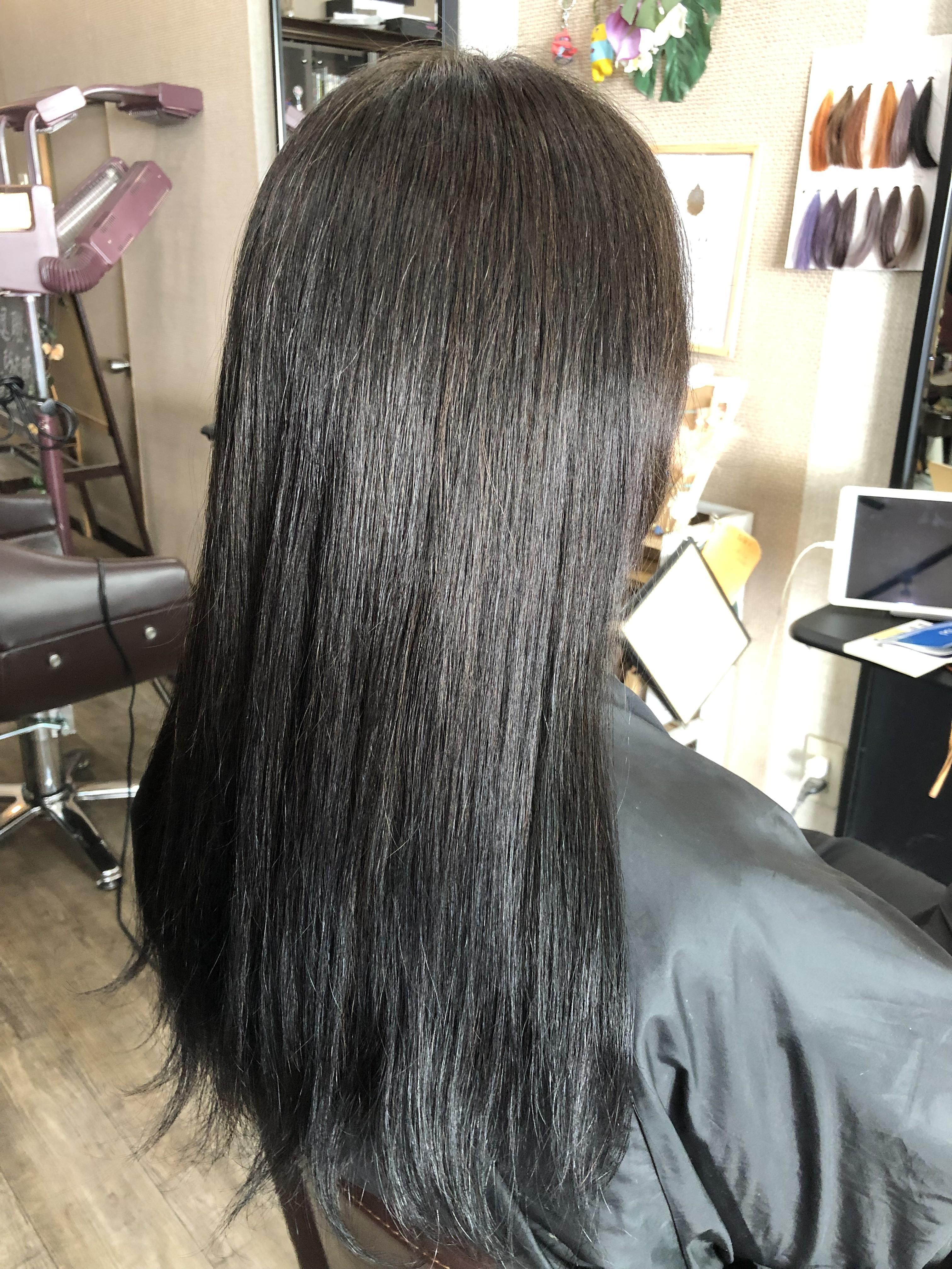 ハナヘナ髪質改善